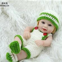 10 inch Mini Silicone Reborn Baby Dolls 26cm Baby Born Full Body Vinyl Doll Sweater Girls