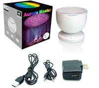 Aurora Master Romantic LED Projector with MP3 USB Music Speaker Ocean Wave Multicolor Night Light Bedside Table Projector Lamp