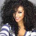Sintética Afro Encaracolado Kinky Perucas Resistente Ao Calor Curly Perucas Baratas para As Mulheres Negras Perucas Sintéticas de Alta Qualidade para o Transporte Livre