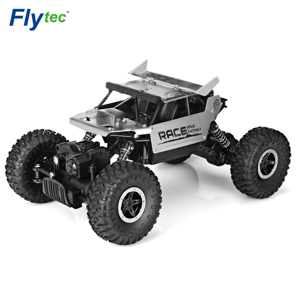 RC Trucks Flytec 9118 1/18 2.4G 4WD Rock RC Alloy Crawlers RC Climbing High Speed Racing Truck Clamber Remote Control Toys