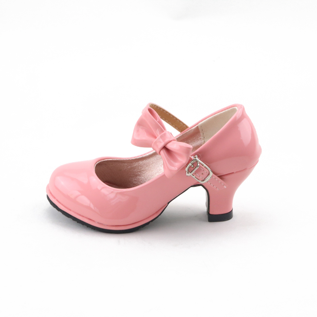 JUSTSL Kids Girls High-heeled Increase Sandlas Children Casual Shoes Girls PU Princess 2017 Summer Bow Shoes