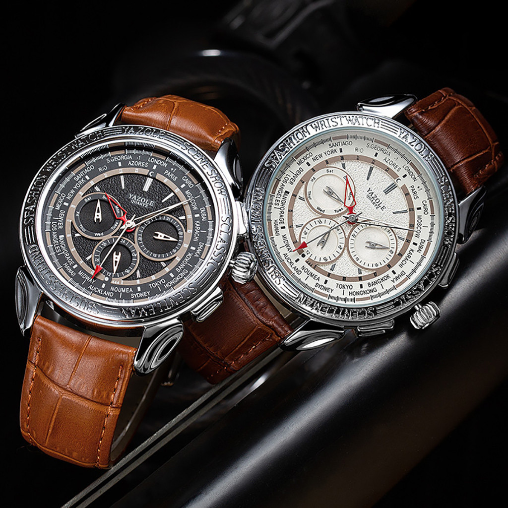Bowake Watches Top Brand Luxury Classic Leather Business