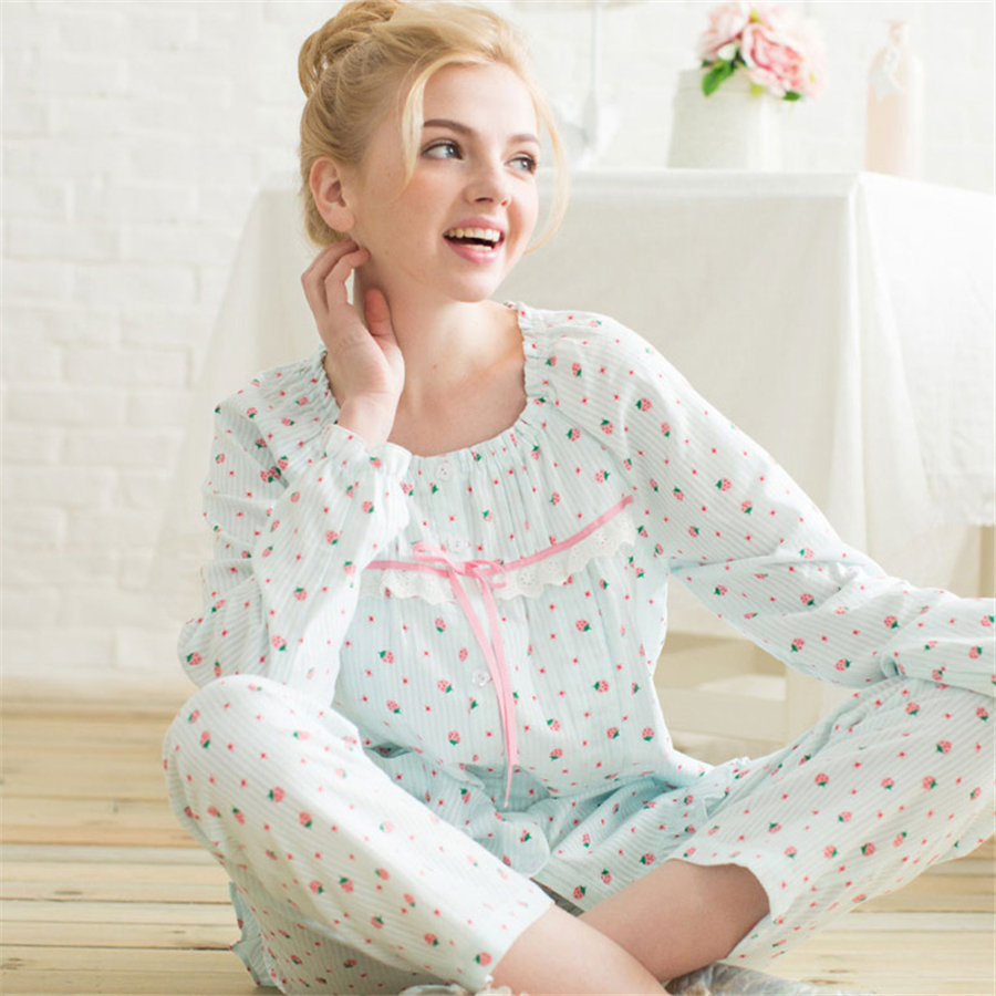 ФОТО Summer Maternity Pajamas Set Pajamas Clothes For Pregnant Women Long Sleeve Soft Cute Cotton Maternity Clothes Spring 60M0052