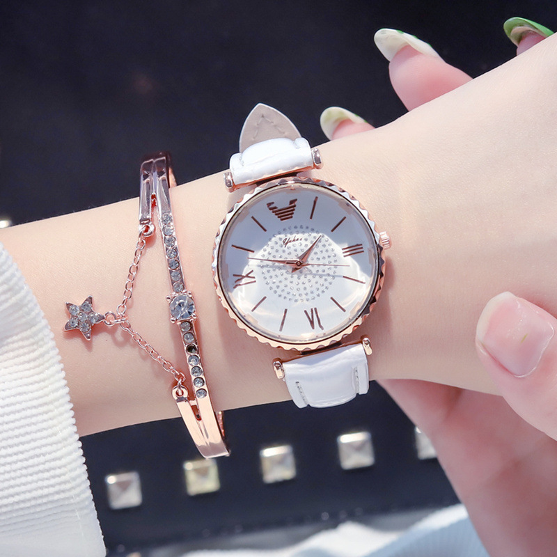Luxury Diamond Women Watches 2019 Designer Charm Ladies Fashion Wristwatches Female White Watch Woman Quartz Leather Clock
