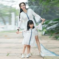 Mother Daughter Dresses Family Matching Clothes Mother and Baby Girl White Dress Matching Mother Daughter Clothes