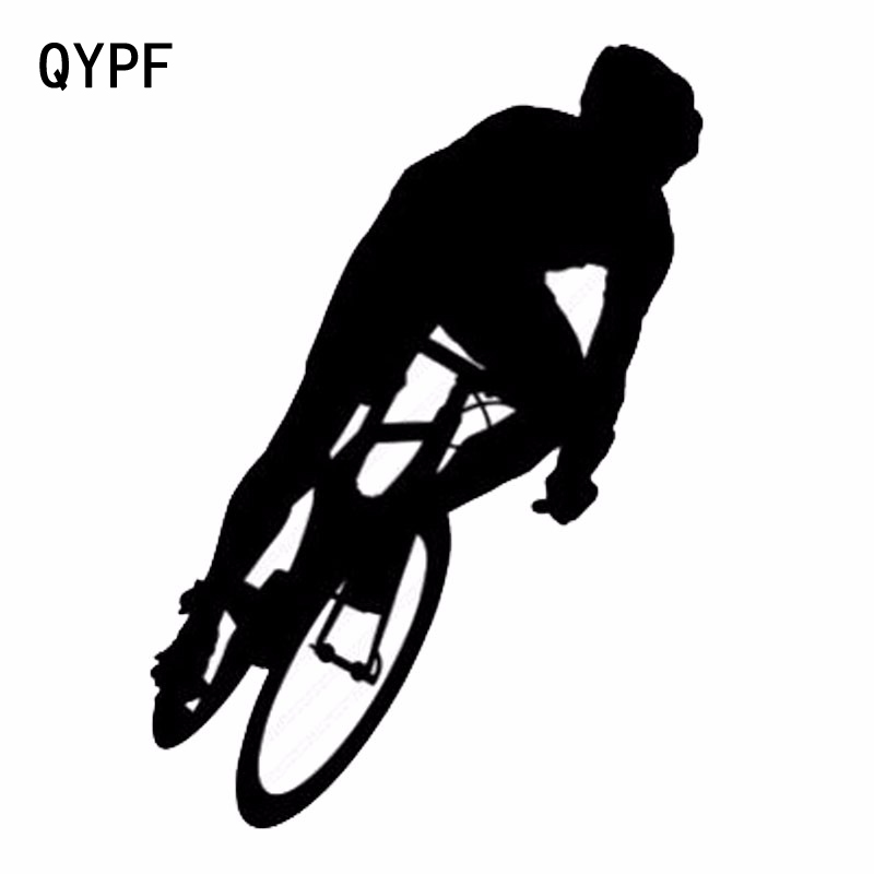 QYPF 10.7cm*15.5cm Creative Vinyl Car Sticker Decal Mountaineering Exercise Bike Car Sticker S2-0055