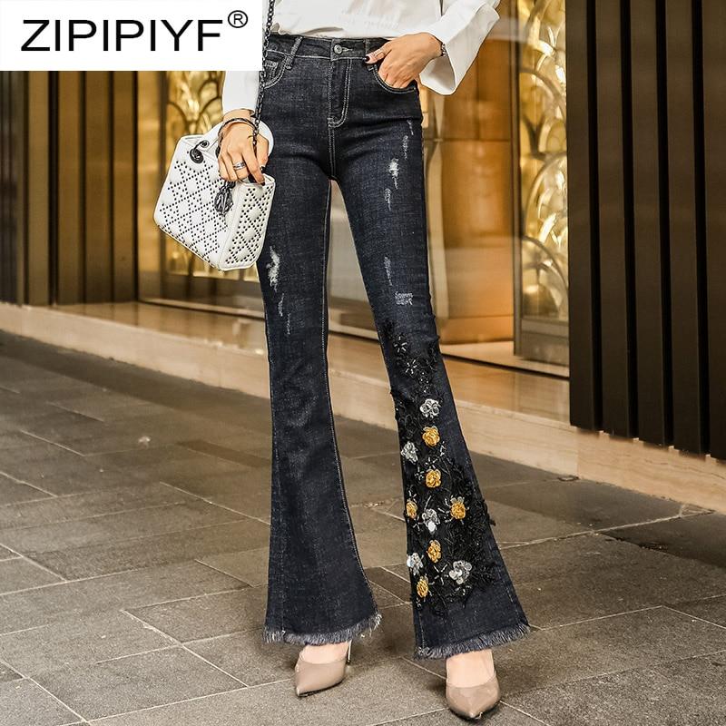 7c7c96ee873 Alta Y Bordado Con Mujer Lavado Negro El Rasgado Jeans Vaqueros Nuevo K414  Slim 2019 Pantalones Elástico Más De Cintura TJ5ulc3FK1
