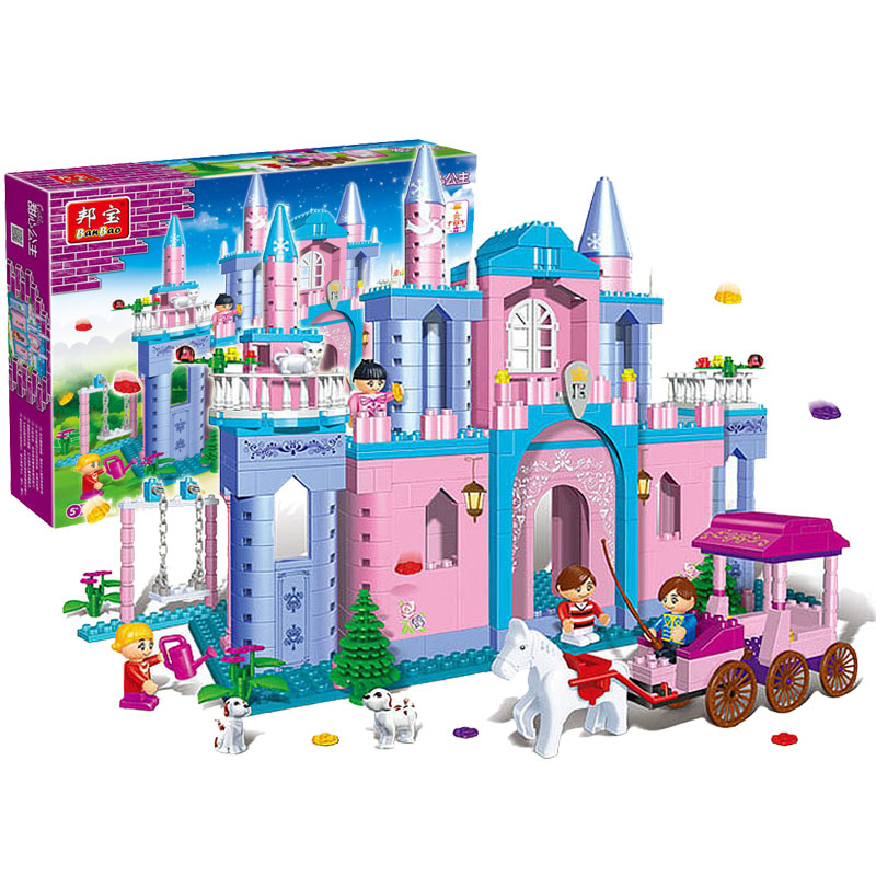 Learning Education Toy Bricks Banbao Princess Series 8360 Castle 532pcs Building Block Girls Birthday Gift Compatible with Lego