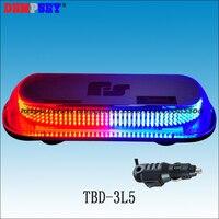 TBD 3L5 светодиодный супер яркий мини lightbar/красный и синий полиции чрезвычайным предупреждение lightbars/тяжелая Магнитная база Strobe мигающий свет