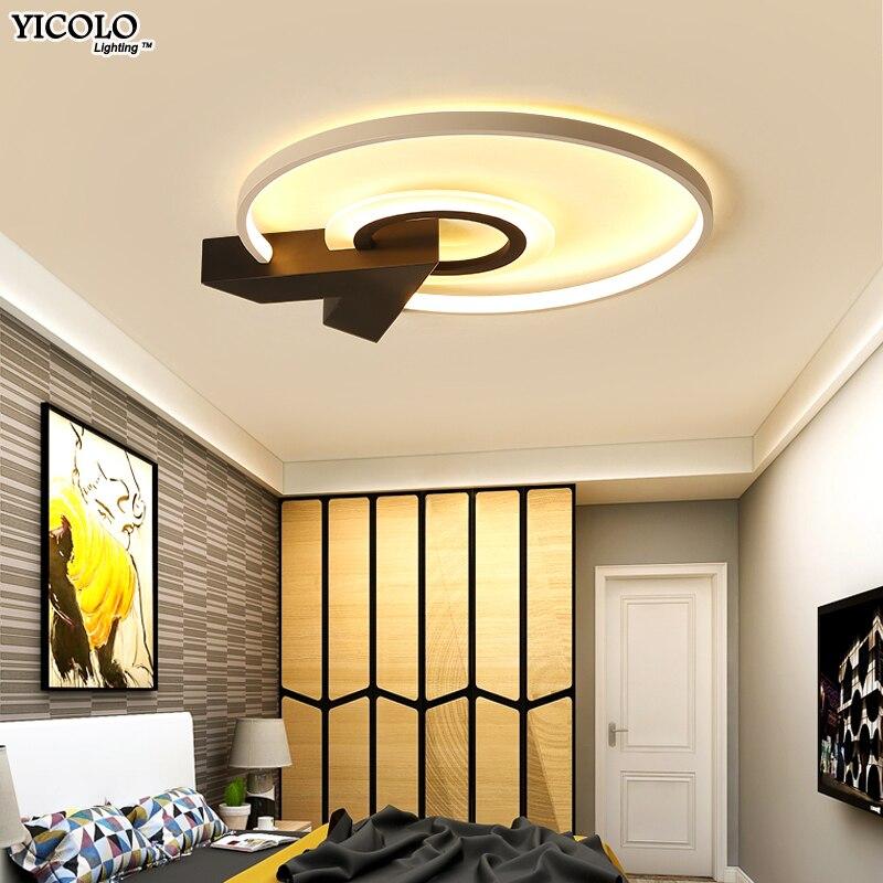 Ronde Moderne Led Plafond Lumières Pour Salon cuisine lampe Éclairage intérieur Luminaire télécommande verlichting plafond luminaire