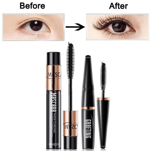 8bc2a221375 2PCS 4D Silk Fiber Lash Mascara Eyelashes Long Extension Waterproof Cosmetic