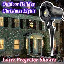 IP65 Водонепроницаемый Открытый Свет Рождественской Звезды Эльф Лазерный Проектор Душ Motion Красный Зеленый Новый Год Лазерная Lumiere
