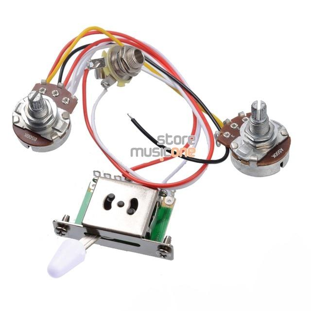 online shop 3 pickup guitar wiring harness prewired with a500k b500k rh m aliexpress com 3 pickup les paul wiring harness