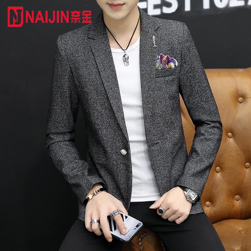 2020 Spring And Autumn, Men's Casual Small Blazer, Men's Slim, Fashionable Young Suits