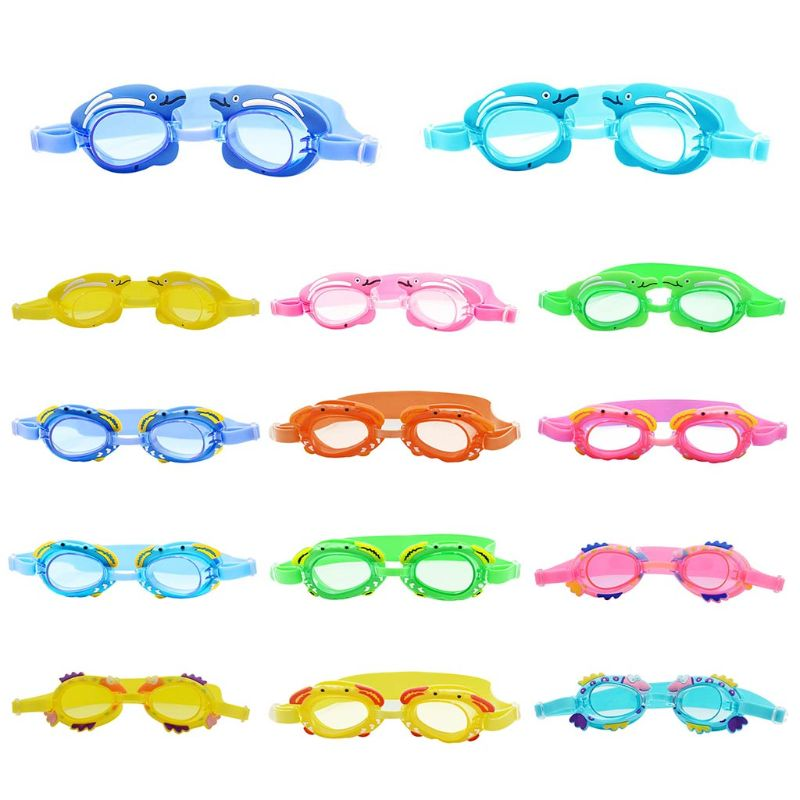 Kids Boy Girl Swimming Goggles Children Glasses Catoon Fish Waterproof Anti Fog Protection Children Diving Glasses New