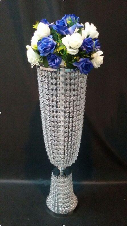 Pièce maîtresse de Table en cristal acrylique de mariage 80 cm (H) vase de fleur de mariage décoration de mariage 10 pcs/lot