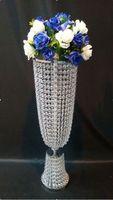 Wedding Arcrylic Crystal Table centerpiece 80cm(H) Wedding flower vase Wedding decoration 10pcs/lot
