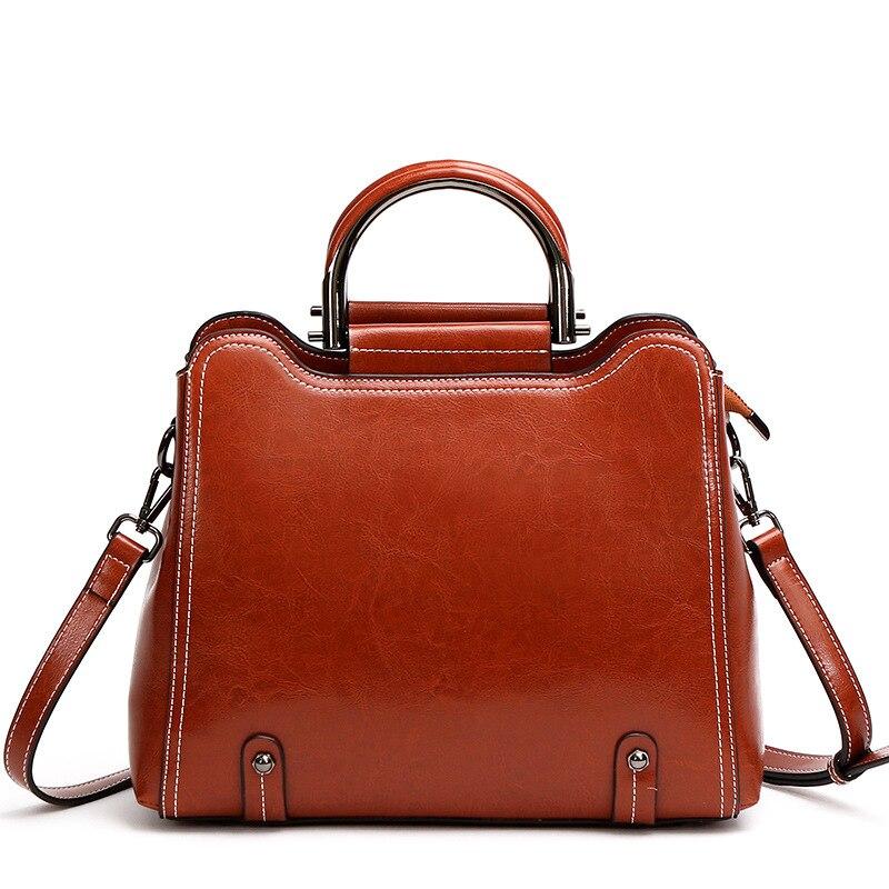 Cowhide womens  fashion temperament killer 2019 new tide shoulder portable messenger leather ladies bag