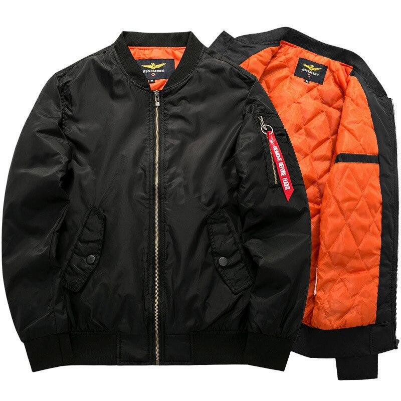 Bomber Jacket 2018 Men's Thick Warm Autumn Winter Military Motorcycle Hiking Jackets Men Flight Ma-1 Pilot Air Force Brand coat