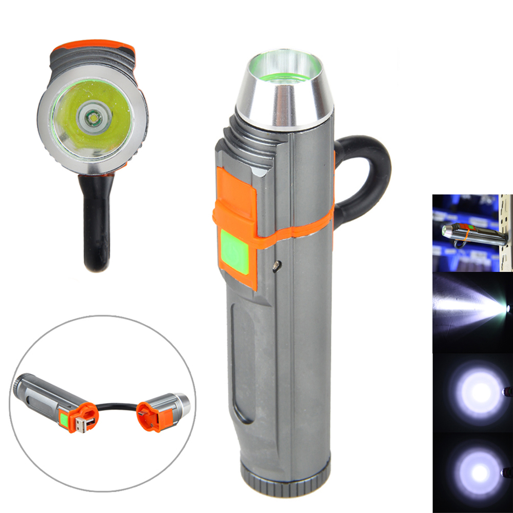 Rechargeable 2000LM USB LED Mini Flashlight Hunting Torch PowerBank Light 18650 hunting 2in1 power bank usb rechargeable 1000 lm led flashlight torch lamp