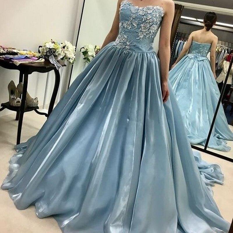 Rare Blue   Evening   Gowns Long robe de soiree   Evening     Dresses   Appliques Lace vestido de festa longo Formal Gown   Evening