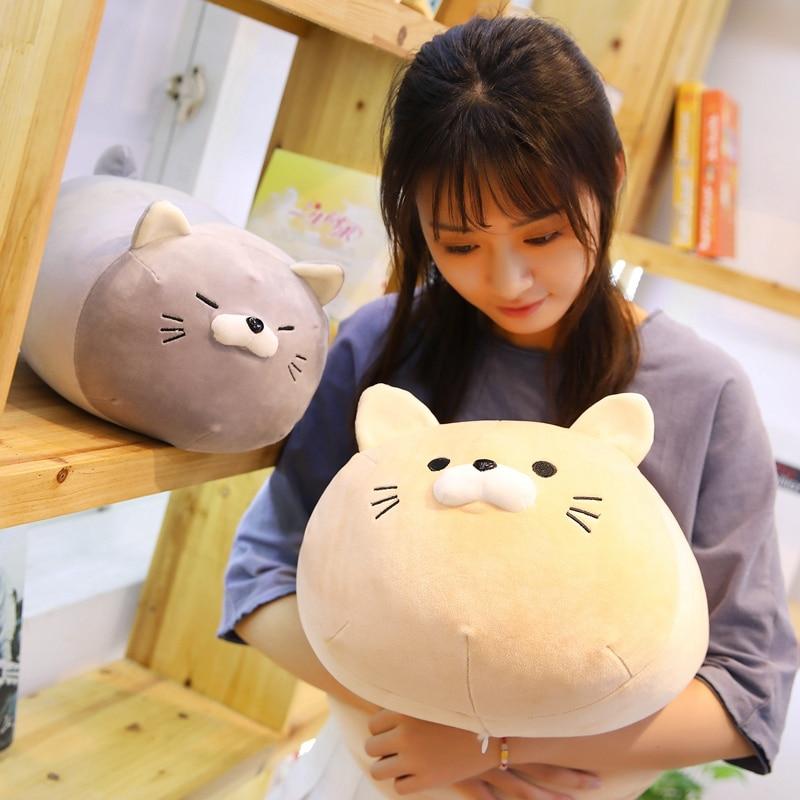 1pc 40/50cm Cute Fat Cat Plush Toy For Children Girls Soft Animal Cartoon Pillow Cushion Stuffed Lovely Kids Birthyday Gift