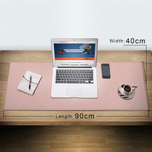 CENNBIE Desk Pad Large Size Artificial Leather Mouse Reversible Design Stylish for Office & Home(Pink)