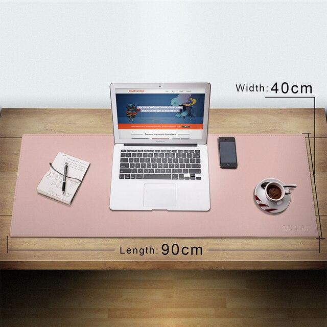 CENNBIE Schreibtisch Pad Große Größe Künstliche Leder Maus Pad Reversible  Design Stilvolle Für Büro U0026 Home