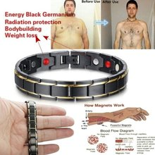Weight Loss Round Black Stone Magnetic Therapy Bracelet Health Care Magnetic Hematite Stretch Ring For Men Women Fat Burning(China)