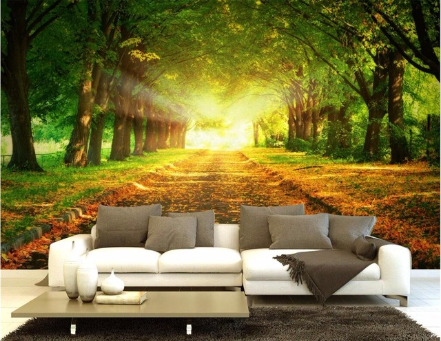 Custom photo 3d room wallpaper mural natural forest for 3d murals for sale