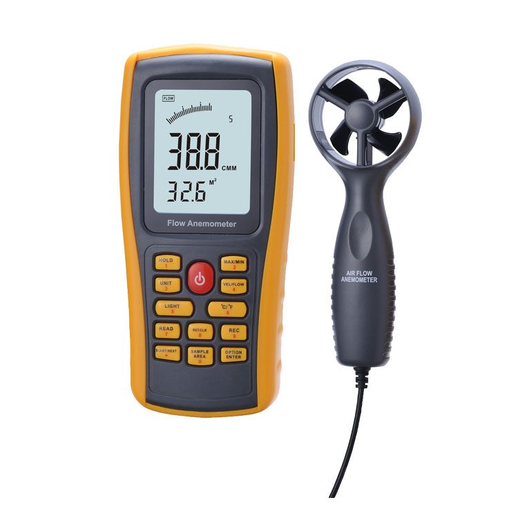 Free Shipping Protable Digital Wind Anemometer 0.3-45m/S Wind Speed Tester Air Flow Anemometer GM8902 free shipping gm8901 45m s 88mph lcd digital hand held wind speed gauge meter measure anemometer thermometer