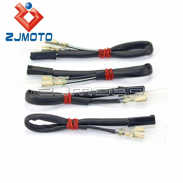 4 pcs Motorcycle OEM Turn Signal Wiring Adapter Plug Harness Connectors 2 wire For Suzuki GSXR_640x640 aliexpress com buy 4 pcs motorcycle oem turn signal wiring Trailer Wiring Harness Adapter at creativeand.co