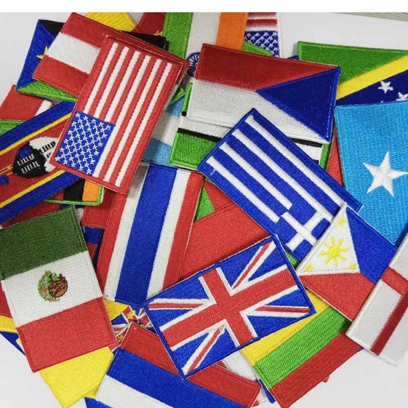 Mali broderie drapeau patch Bamako ville emblème pour moto manteau en gros fer sur coudre gauche poitrine chemises bricolage originalité