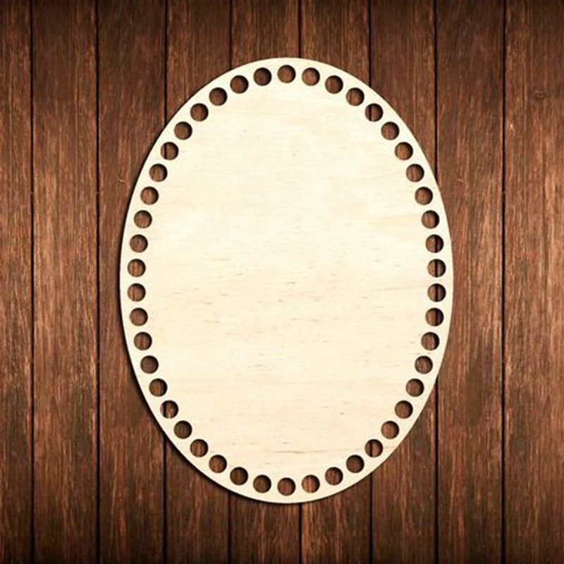 20 Pieces Oval Shape Wooden Basket Bottom Wood Bottom Base Oval Basket Bottom Blank Cross Stitch DIY 15X10CM
