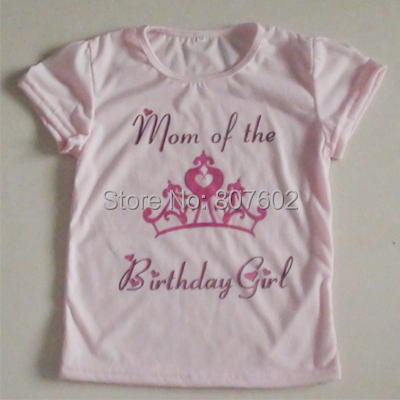 Girl Birthday T Shirt Kid Crown Shirts Blouse Cotton Top Gift For MOMs