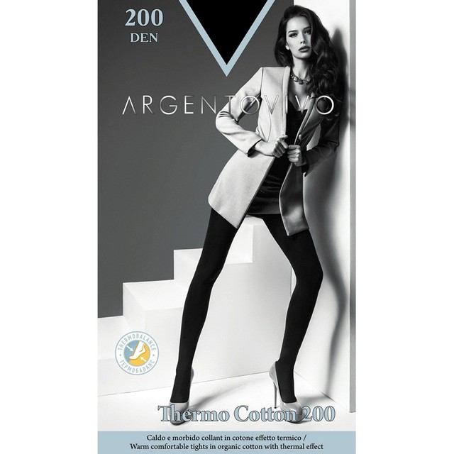 Колготки женские Argentovivo Thermo Cotton 200