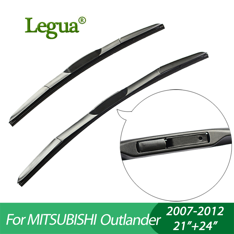 "Legua Wiper blades for Mitsubishi Outlander(2007 2012)  21""+24"" car wiper Hybrid type Rubber  Windscreen Wipers  Car accessory