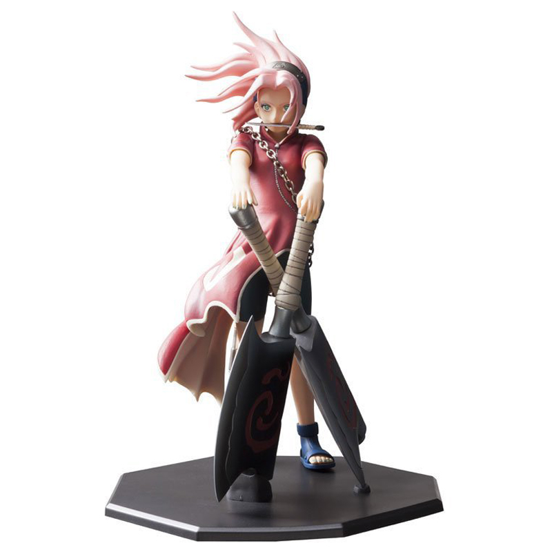 Naruto Haruno Sakura Action Figure 1/7 scale painted figure Battleax Ver. Sakura Doll PVC figure Toy Brinquedos Anime card captor kinomoto sakura 1 7 scale painted figure 15th anniversary sakura doll pvc action figure collectible toy 26cm kt3366