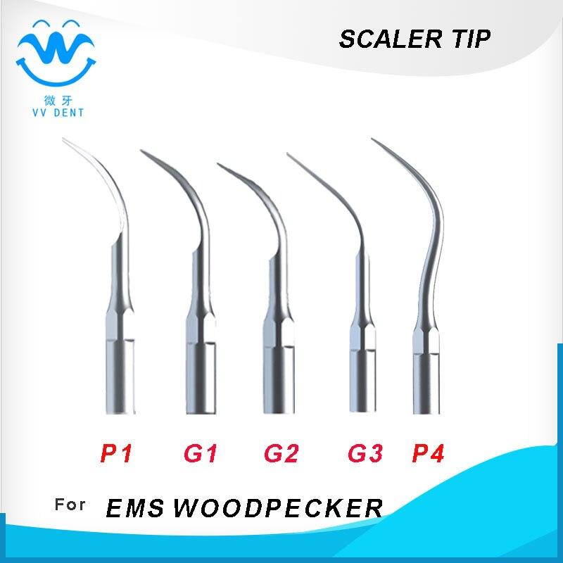 Ultraschall-Dental Scaler Tips P1, G1, G2, G3, P4Compitable Für EMS, WOODPECKER, HENRY SCEHEINE-Serie Tipps-Code, zahnärztliche Ausrüstung