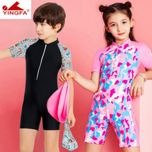 254dc84baa Girls Swimwear Cute Kids Swimsuit With Swimming Cap 2019 baby girl bathing  suit One Pieces Swim Wear For Boy Children