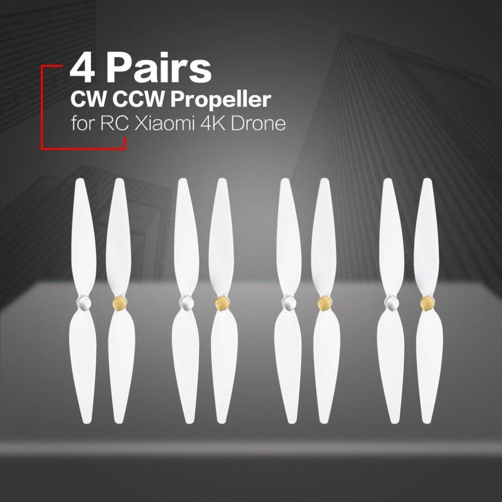 4 pares 10 polegada Conjunto Lâminas CW CCW Hélices Props Hélices Peças de Reposição para RC Versão Xiaomi 4 k Zangão quadcopter