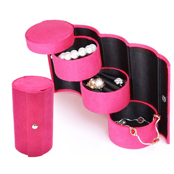 Jewelry Storage Boxes Bins Home Round Jewelery Organizer For Necklace Ring Earrings Bracelets