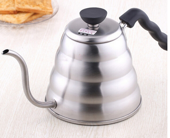 1pc 1 0L Hario Style Tea and Coffee Drip Kettle pot stainless steel gooseneck spout Fine