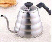 1 stück 1.0L Hario Stil Tee und Kaffee Tropf Wasserkocher topf edelstahl edelstahl schwanenhals auslauf Feinen mund kaffee topf wasserkocher 0830