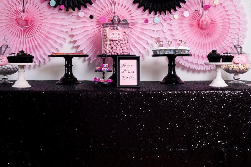 Online Get Cheap Black Sequin Tablecloth Aliexpress Com