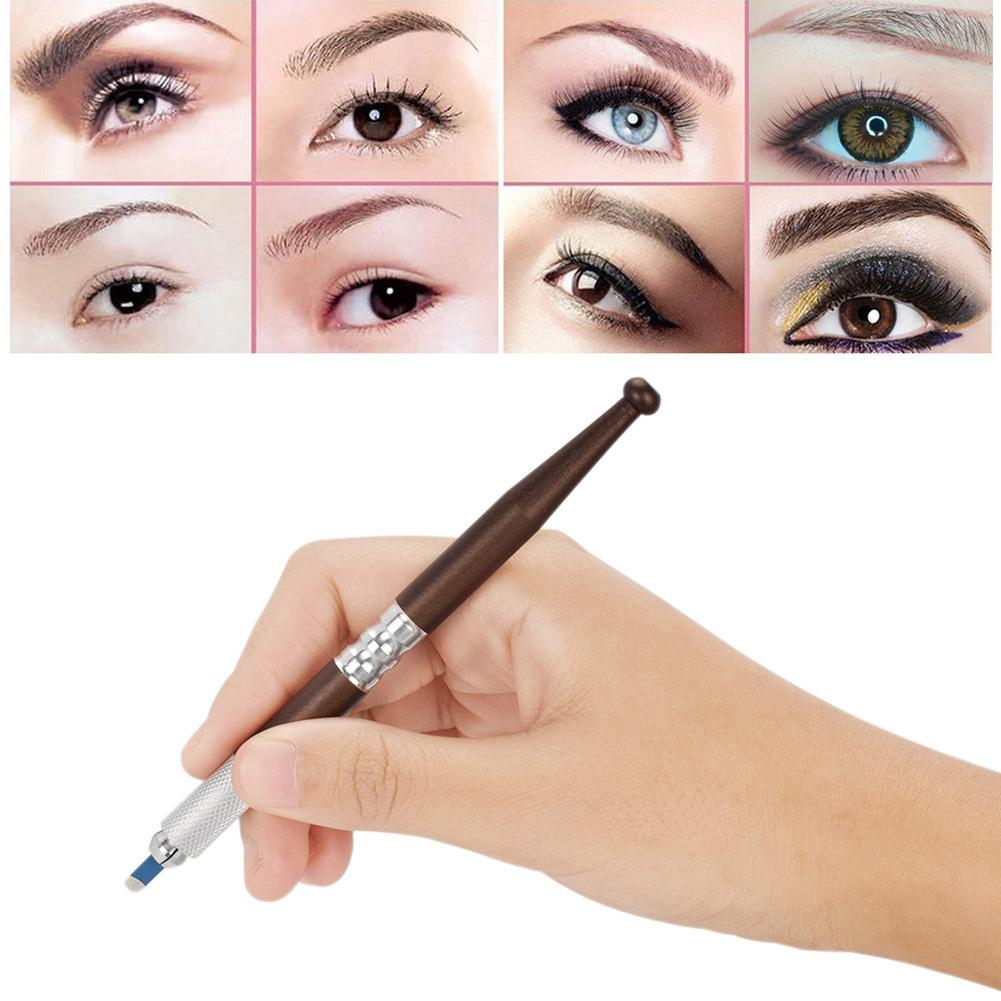 Microblading Tattoo Pen Stainless Steel Eyebrow Ruler for Semi