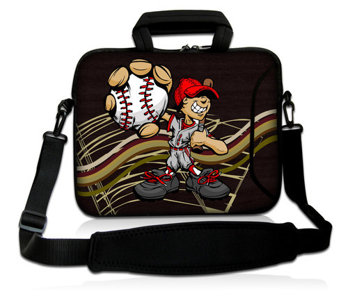 Baseball 1515.4 15.6neoprene Laptop Carrying Bag Sleeve Case Cover W/side Pocket Laptop Bags & Cases shoulder Strap For 15.6