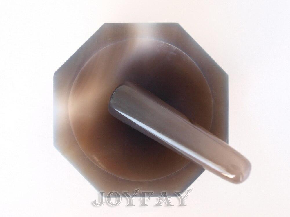 """ナチュラル瑪瑙乳鉢と乳棒 ID = 70 ミリメートル 2.8 """"OD = 85 ミリメートル研削  グループ上の ツール からの 工具部品 の中 1"""