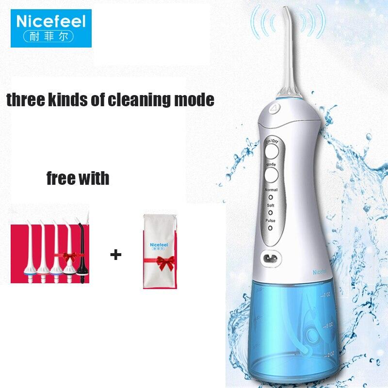 Belle sensation buse rotative électrique Oral irrigateur Smart Timing impacteur Portable dentaire Flosser à la main maison nettoyeur de dents