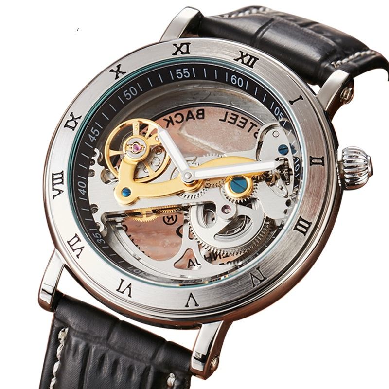 Waterproof Automatic Watches Men Luxury Fashion Brand Shenhua Mechanical Watch Transparent Unique Design Men's Womens Watch